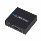 1-In 2-Out Ports 1080P HDMI V1.3 Splitter w/ Power Adapter - Black (100~240V / 2-Round-Pin Plug)
