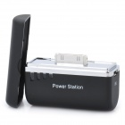 Externe 1500mAh Mobile Power Station für iPhone / iPod - Schwarz