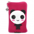 Cute Cartoon Mobile Phone Carrying Handbag Pouch - Deep Pink
