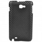 Protective Woven Pattern Carbon Fiber PC Case for Samsung i9220 - Black
