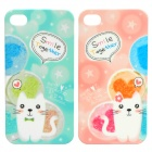 Cute Lover Cat Protective PC Case for Iphone 4 (Pair)