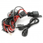 H3 55W Car Lamps Wiring Harness Kit w/ Fuse / Switch (DC 12V)
