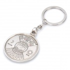 Unique Zinc Alloy Keychain Ring with 50 Years Perpetual Calendar - Silver (2007~2056)