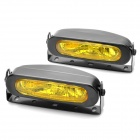 55W 3000K 1000-Lumen 1 x H3 Halogen Bulb Yellow Light Car Fog Lamps - Yellow Lens (DC 9~16V / Pair)