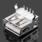 USB 2.0 AF A-Type Female 90 Degree Connector DIY Parts - Silver (20-Piece Pack)