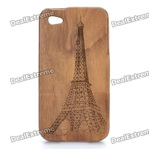 Eiffel Tower Pattern Protective Ebony Wooden Back Case for Iphone 4 / 4s