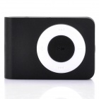 Mini USB Rechargeable TF Card MP3 Player - Black (Max. Supports 16GB TF Card)