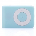 Mini USB Rechargeable TF Card MP3 Player - Light Blue (Max. Supports 16GB TF Card)
