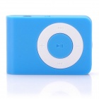 Mini USB Rechargeable TF Card MP3 Player - Blue (Max. Supports 16GB TF Card)