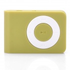 Mini USB Rechargeable TF Card MP3 Player - Green (Max. Supports 16GB TF Card)