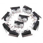3-Pin Mini Micro Switch w/ Push Button - Black (10-Piece Pack)