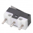 3-pin mini micro interruptor w / pulsador - negro (10PCS)