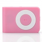 Mini USB Rechargeable TF Card MP3 Player - Pink (Max. Supports 16GB TF Card)