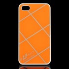 Cross Lines Protective ABS Back Case for iPhone 4 / 4s - Orange