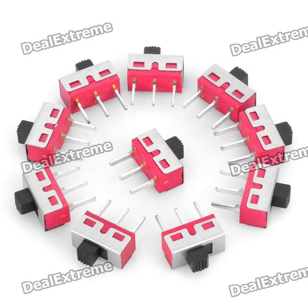 3-Pin Slide Switch DIY Delar - Röd (10PCS)