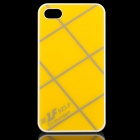 Cross Lines Protective ABS Back Case for iPhone 4 / 4s - Yellow