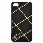Cross Lines Protective ABS Back Case for Iphone 4 / 4s - Black