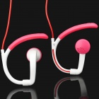 Designer's Outdoor 3.5mm Stereo Ear Hook Handsfree Headset Earphone - Red