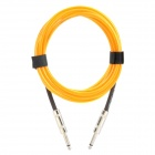 6.35mm Male to Male Audio Connection Cable for Guitar / Bass + More - Yellow (3 Meters)