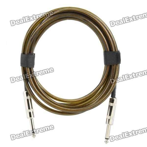 6.35mm Male to Male Audio Connection Cable for Guitar / Bass + More - Brown (3 Meters) 6 35mm male to male audio connection cable for guitar bass more blue 3 meters