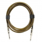6.35mm Male to Male Audio Connection Cable for Guitar / Bass + More - Brown (3 Meters)
