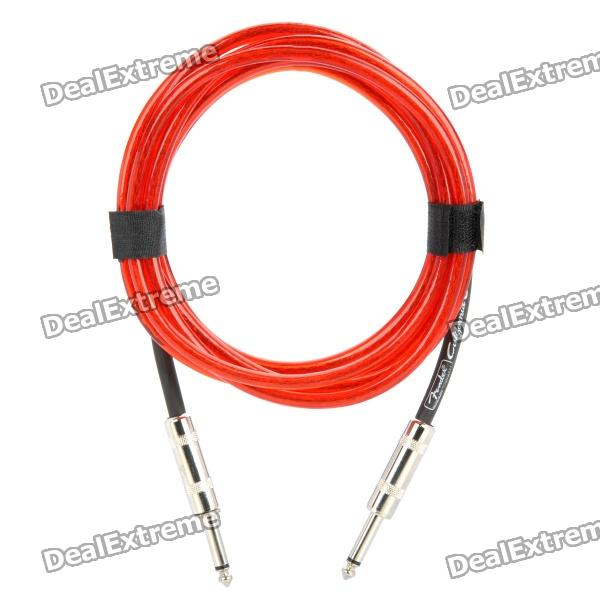 Fender 6.35mm Male to Male Audio Connection Cable for Guitar / Bass + More - Red (3 Meters) 6 35mm male to male audio connection cable for guitar bass more blue 3 meters