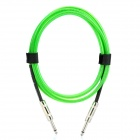 6.35mm Male to Male Audio Connection Cable for Guitar / Bass + More - Green (3 Meters)