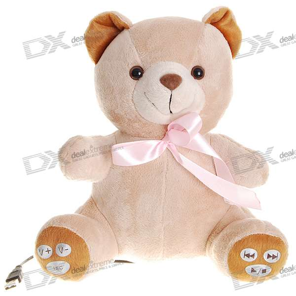 Cute Huggy Bear MP3 Player with Internal Speakers (1GB)