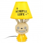 AC 220V Powered Totoro Style E14 Connector Bulb Base Desk Lamp - Yellow