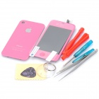 Replacement Touch Screen Digitizer LCD + Back Cover Module w/ Tools Kit for iPhone 4s - Pink