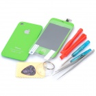 Replacement Touch Screen Digitizer LCD + Back Cover Module w/ Tools Kit for iPhone 4s - Green