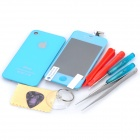 Replacement Touch Screen Digitizer LCD + Back Cover Module w/ Tools Kit for iPhone 4s - Light Blue