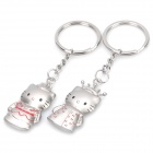 Fashion Hello Kitty Stainless Steel Couple Keychains - Prince & Princess (Pair)