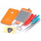 Replacement Touch Screen Digitizer LCD + Back Cover Module w/ Tools Kit for iPhone 4s - Orange