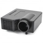 Mini 3W LED 800LM Projector w/ TF Slot - Black (200:1 / 320x240 Pixels)