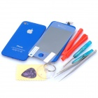 Replacement Touch Screen Digitizer LCD + Back Cover Module w/ Tools Kit for iPhone 4s - Dark Blue