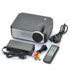 "3.2"" LCD LED Projector with HDMI / VGA / TV / Video / Audio In & Out / YPbPr / S-Video - Black"