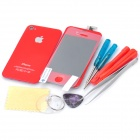 Replacement Touch Screen Digitizer LCD + Back Cover Module w/ Tools Kit for iPhone 4s - Red