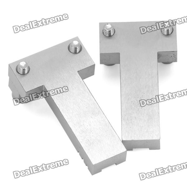 Steel T Shapes : Stainless steel t shape benz car key fixture pair free