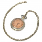 Vintage Retro Tawny Rhinestone Style Quartz Pocket Watch - Bronze (1 x 377s/80cm)