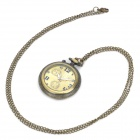 Vintage Retro Pocket Watch with LED Digit Flashlight - Bronze + Light Yellow (1 x 377s/80cm)