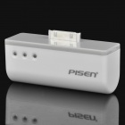 Pisen 2500mAh Rechargeable External Battery Pack for iPhone/iPod - Ivory White