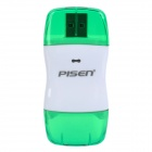 Pisen USB 2.0/1.1 High Speed SD Card Reader - Transparent Green