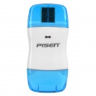 Pisen High Speed USB 2.0 SD Card Reader - Transparent Blue