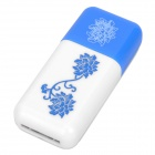 Pisen High Speed USB 2.0 TF Card Reader - Blue + White