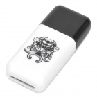 Pisen High Speed USB 2.0 TF Card Reader - Black + White