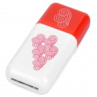 Pisen High Speed USB 2.0 TF Card Reader - Red + White