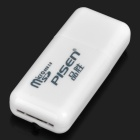 Pisen High Speed USB 2.0 TF Card Reader - White