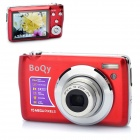 15MP 3X Optical Zoom 4X Digital Zoom Portable Camera with SD Slot - Red + Silver (2.7