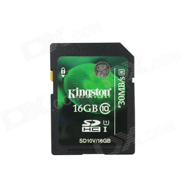 Carte SD Kingston SDHC CLASS 10 avec interrupteur de protection contre l'écriture (16 Go)